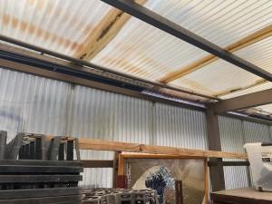 倉庫屋根張替え