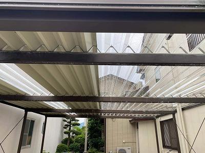 カーポート屋根張替