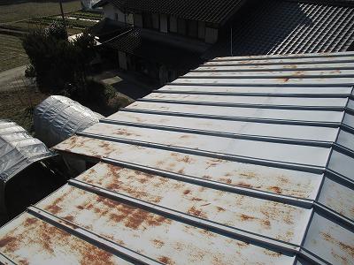 金属屋根のサビ