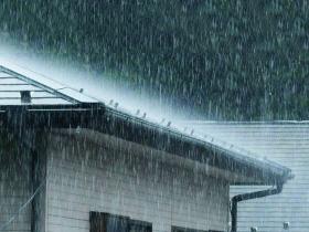 強い雨の時、 ポタポタと音がする