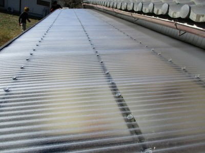 テラス屋根張替工事