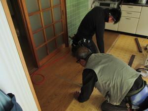 うぐいす張り!?の床も簡単!上張り工事!!!