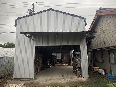 倉庫外壁改修