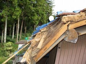 台風屋根改修