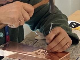 銅板表札つくり
