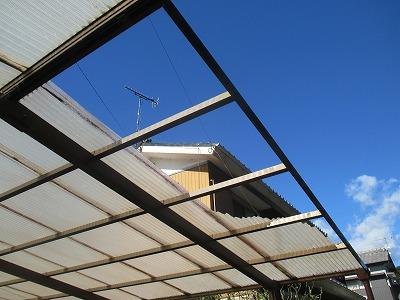 カーポート屋根被害