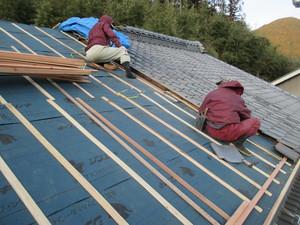 瓦屋根改修工事