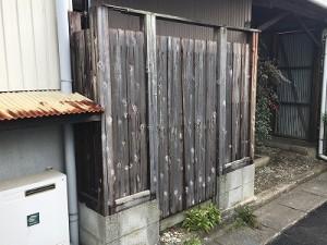 木製塀修理