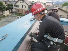屋根改修工事 施工中