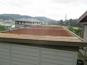 物置屋根改修