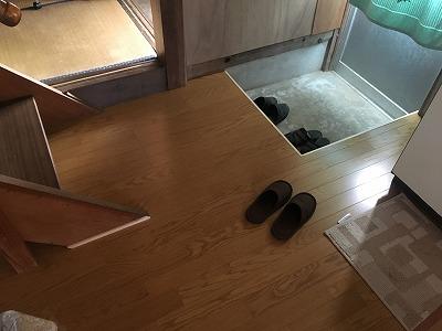 台所床張替