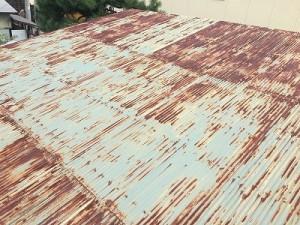 車庫屋根葺替