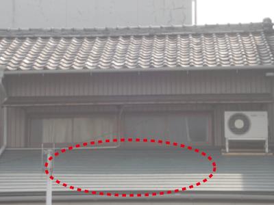 下屋根カラーベスト工事